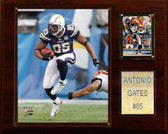 "NFL 12""x15"" Antonio Gates San Diego Chargers Player Plaque"