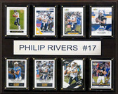 "NFL 12""x15"" Philip Rivers San Diego Chargers 8-Card Plaque"