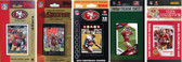 NFL San Francisco 49ers 5 Different Licensed Trading Card Team Sets
