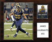 "NFL 12""x15"" James Laurinaitis St. Louis Rams Player Plaque"