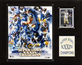 "NFL 12""x15"" St. Louis Rams Super Bowl XXXIV Champions Plaque"