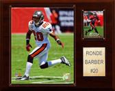"""NFL 12""""x15"""" Ronde Barber Tampa Bay Buccaneers Player Plaque"""