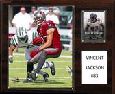 """NFL 12""""x15"""" Vincent Jackson Tampa Bay Buccaneers Player Plaque"""