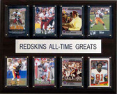 "NFL 12""x15"" Washington Redskins All-Time Greats Plaque"