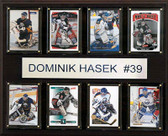 "NHL 12""x15"" Dominik Hasak Buffalo Sabres 8-Card Plaque"