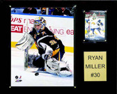 "NHL 12""x15"" Ryan Miller Buffalo Sabres Player Plaque"