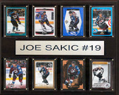 "NHL 12""x15"" Joe Sakic Colorado Avalanche 8-Card Plaque"