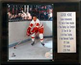 """NHL 12""""x15"""" Gordie Howe Detroit Red Wings Career Stat Plaque"""