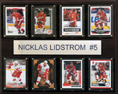 "NHL 12""x15"" Nicklas Lidstrom Detroit Red Wings 8-Card Plaque"