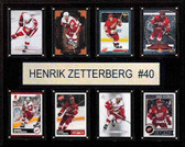 "NHL 12""x15"" Henrik Zetterberg Detroit Red Wings 8-Card Plaque"