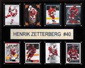 "NHL 12""x15"" Henrik Zetterberg Detroit Red Wings 8-Card Plaque"