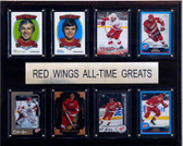 "NHL 12""x15"" Detroit Red Wings All-Time Greats Plaque"