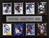"NHL 12""x15"" Wayne Gretzky Edmonton Oilers 8 Card Plaque"
