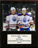 "NHL 12""x15"" Taylor Hall- Ryan Nugent-Hopkins Edmonton Oilers Player Plaque"
