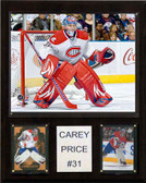 "NHL 12""x15"" Carey Price Montreal Canadiens Player Plaque"
