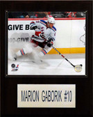 "NHL 12""x15"" Marian Gaborik New York Rangers Player Plaque"