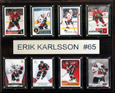 "NHL 12""x15"" Erik Karlsson Ottawa Senators 8-Card Plaque"