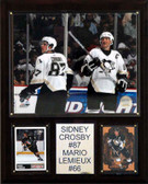 "NHL 12""x15"" Crosby-Lemieux Pittsburgh Penguins Player Plaque"