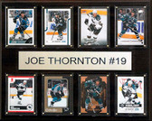 "NHL 12""x15"" Joe Thornton San Jose Sharks 8-Card Plaque"