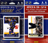 NHL St. Louis Blues Licensed 2013-14 Score Team Set and All-Star Set