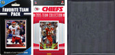 NFL Kansas City Chiefs Licensed 2015 Score Team Set and Favorite Player Trading Card Pack Plus Storage Album