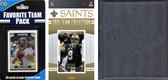 NFL New Orleans Saints Licensed 2015 Score Team Set and Favorite Player Trading Card Pack Plus Storage Album