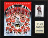 "NHL 12""x15"" Chicago Blackhawks 2014-2015 Stanley Cup Celebration Plaque"