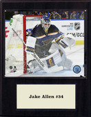 "NHL 12""x15"" Jake Allen St. Louis Blues Player Plaque"