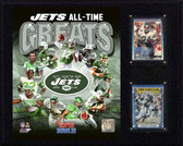 "NFL 12""x15"" Jets Greats Plaque"