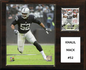 "NFL 12""x15"" Khalil Mack Oakland Raiders Player Plaque"