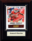 "NFL 4""x6"" Jamaal Charles Kansas City Chiefs Player Plaque"