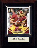 "NFL 4""x6"" Kirk Cousins Washington Redskins Player Plaque"