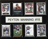 "NFL 12""x15"" Peyton Manning Carrer 8-Card Plaque"