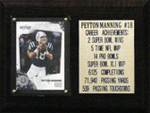 6 x 8 Payton Manning Indianapolis Colts Career Stat Plaque