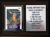 6 x 8  Kobe Bryant Career Stat Plaque