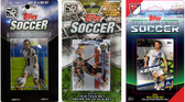 MLS Los Angeles Galaxy 3 Different Licensed Trading Card Team Sets