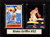 "NBA 6""X8"" Blake Griffin Los Angeles Clippers Two Card Plaque"