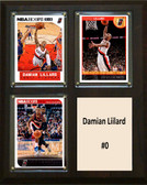 "NBA 8""x10"" Damian Liilard Portland Trailblazers Three Card Plaque"