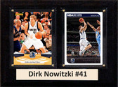 "NBA 6""X8"" Dirk Nowitzki Dallas Mavericks Two Card Plaque"