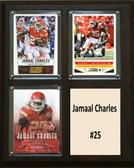 "NFL 8""x10"" Jamaal Charles Kansas City Chiefs Three Card Plaque"