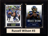 "NFL 6""X8"" Russell Wilson Seattle Seahawks Two Card Plaque"