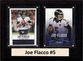 "NFL 6""X8"" Joe Flacco Baltimore Ravens Two Card Plaque"