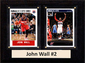 "NBA 6""X8"" John Wall Washington Wizards Two Card Plaque"