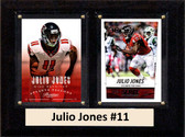 "NFL 6""X8"" Julio Jones Altanta Falcons Two Card Plaque"