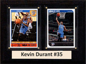 "NBA 6""X8"" Kevin Durant Oklahoma City Thunder Two Card Plaque"