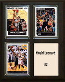 "NBA 8""x10"" Kwahi Leonard San Antonio Spurs Three Card Plaque"
