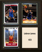 "NBA 8""x10"" Lebron James Cleveland Cavaliers Three Card Plaque"
