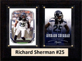 "NFL 6""X8"" Richard Sherman Seattle Seahawks Two Card Plaque"