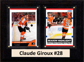 "NHL 6""X8"" Claude Giroux Philadelphia Flyers Two Card Plaque"