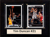 "NBA 6""X8"" Tim Duncan San Antonio Spurs Two Card Plaque"